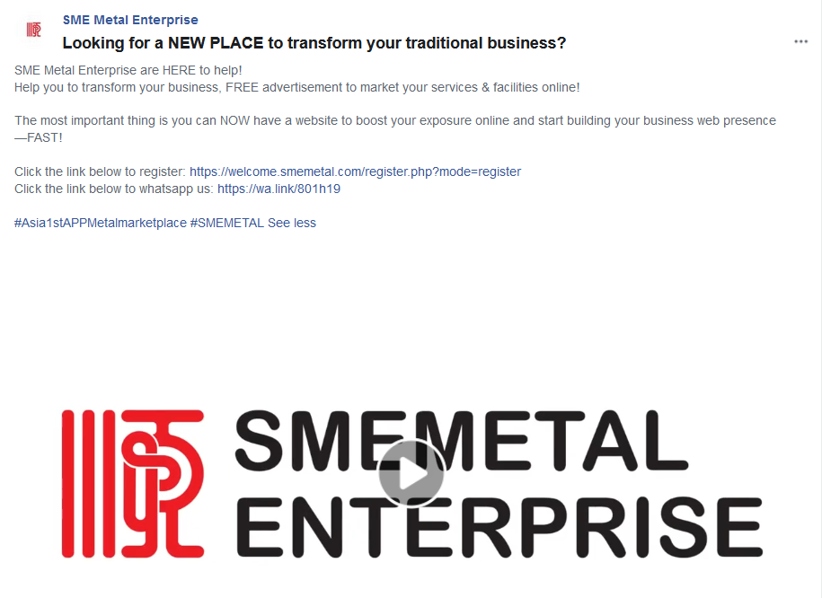 Smemetal Enterprise | Looking for a NEW PLACE to transform your traditional business?